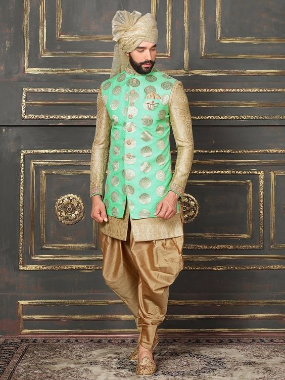 green jacket for mehndi