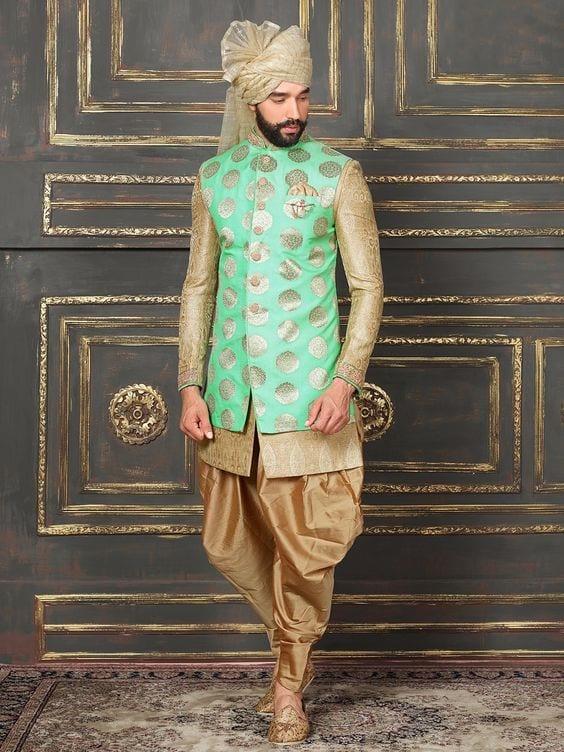 green jacket for mehndi