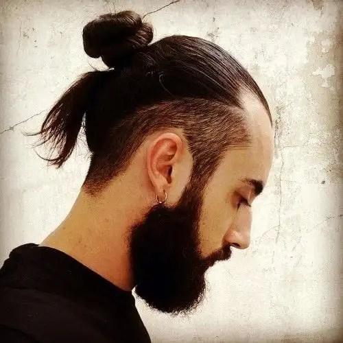 Undercut man bun styles