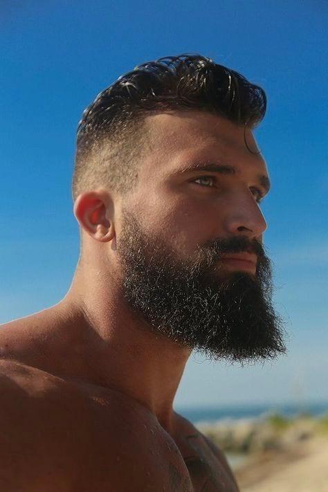bearded fade style