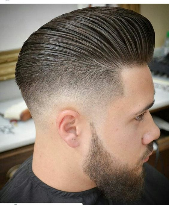 faded pompadour