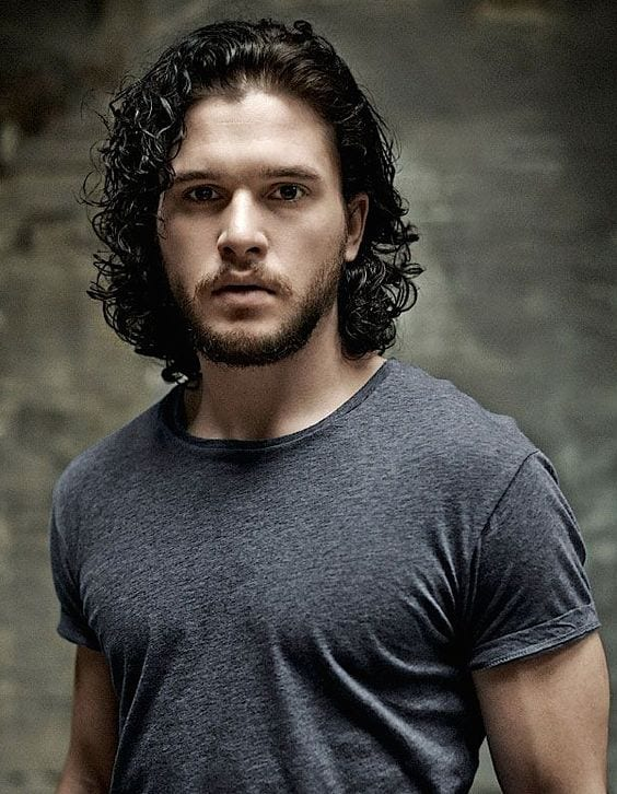 kit harrington curly hair