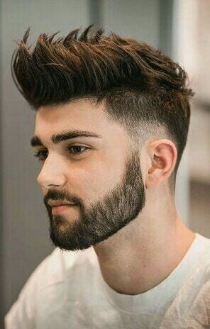middle spikes with beard