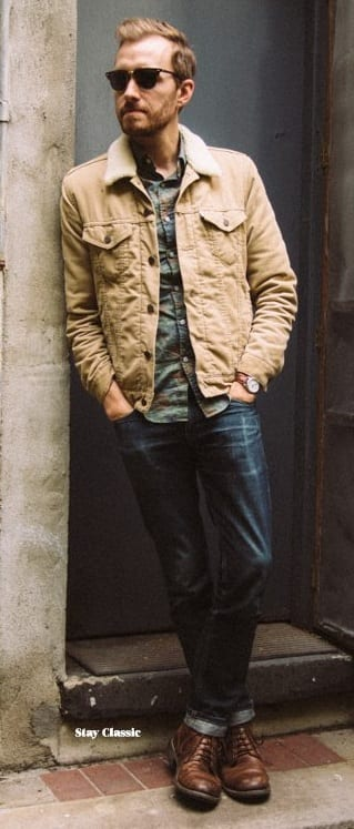 Corduroy jacket -men's fashion trends