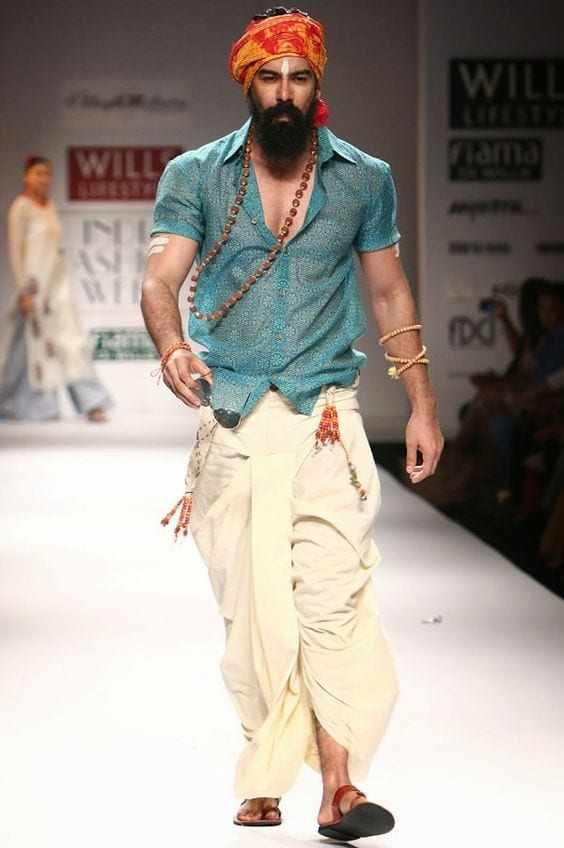 Shirt and dhoti