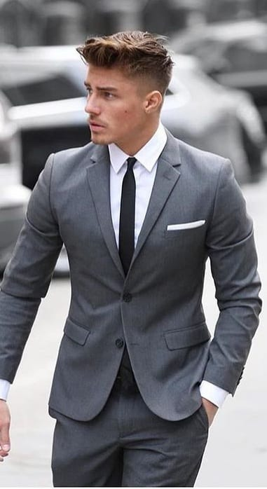 dark grey outfit light skin tone men should style