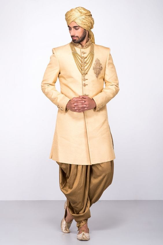 dhoti and sherwani