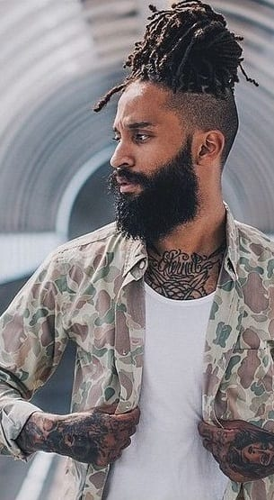 high top with beard