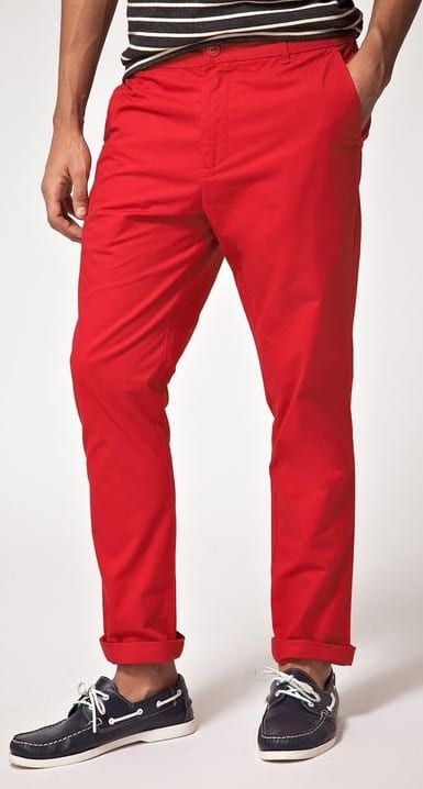 red chino colour to avoid