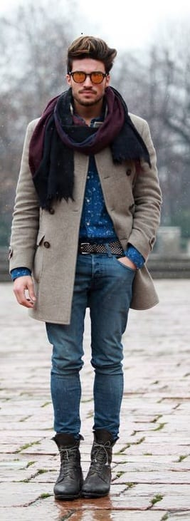 scarfs men- Short Men Guide