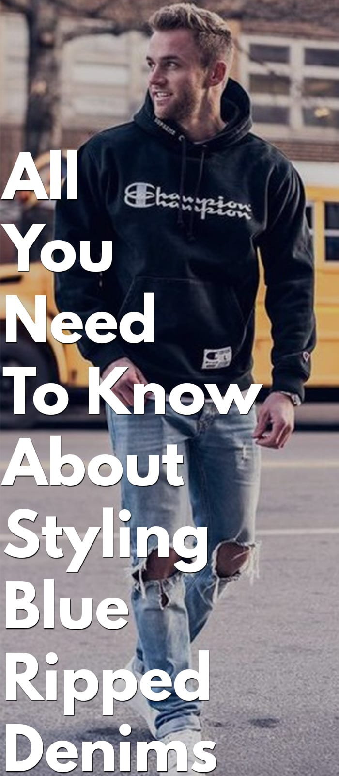 All You Need To Know About Styling Blue Ripped Denims