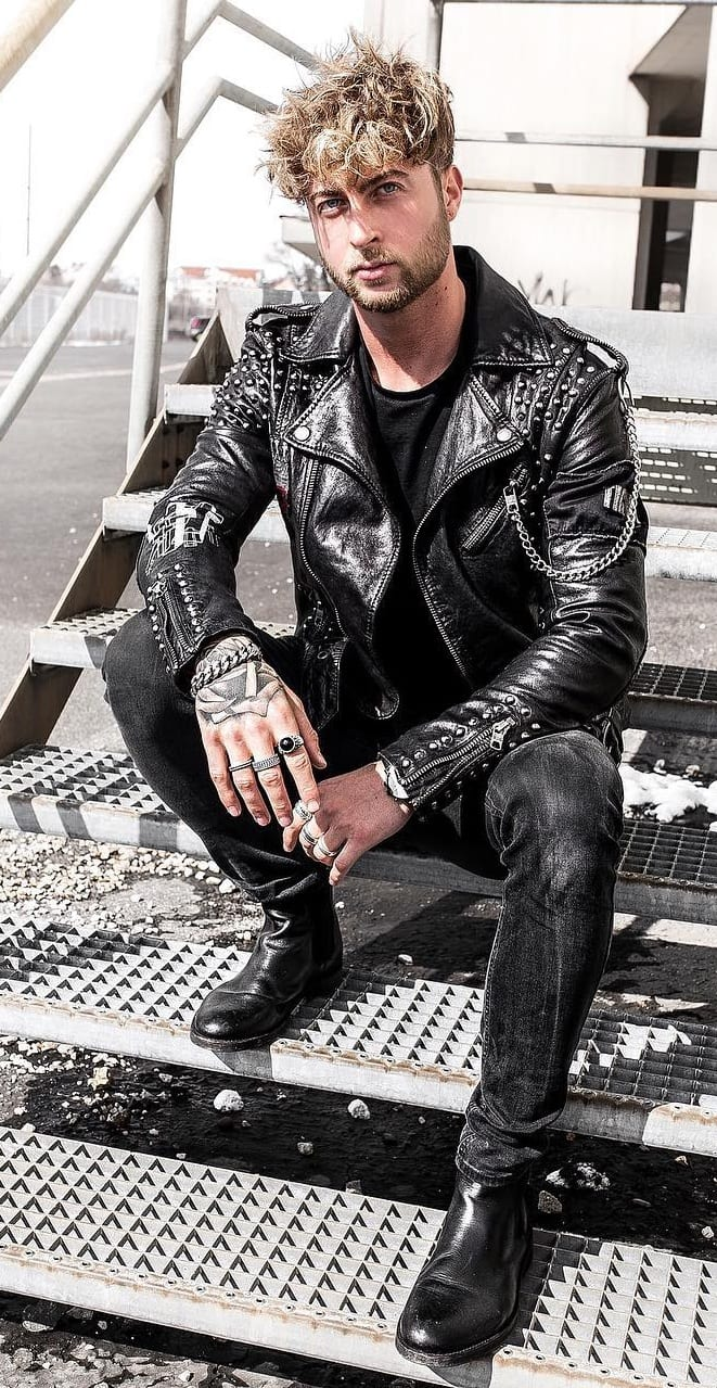 Black leather jacket men must have