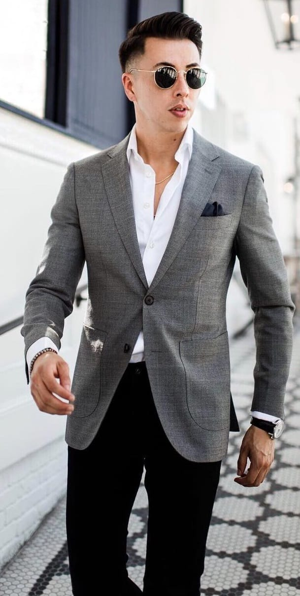 Blake Scott grey blazer