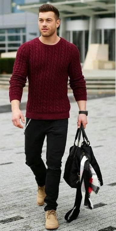 burgundy autumn outfit