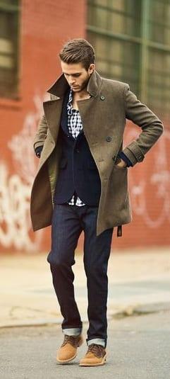 cardigan and pea coat