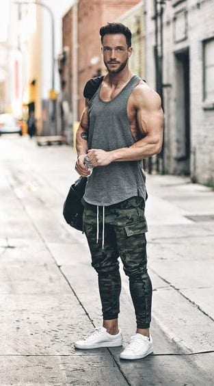 joggers and tank tops