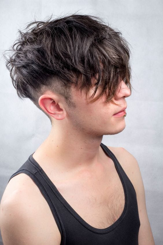 messy undercut hairstyle