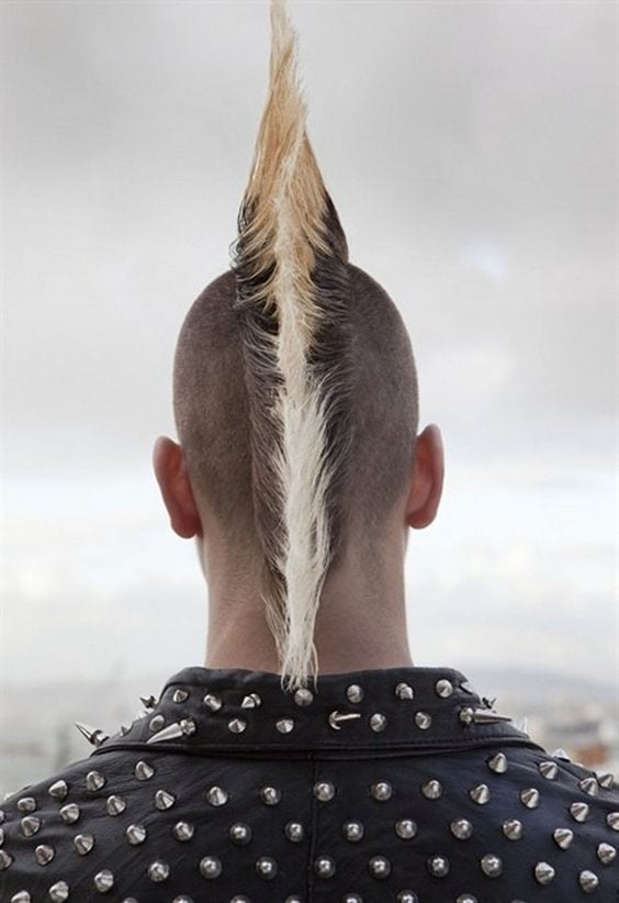 side shaved mohawk