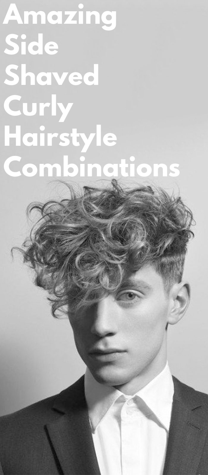 Amazing Side Shaved Curly Hairstyle Combinations