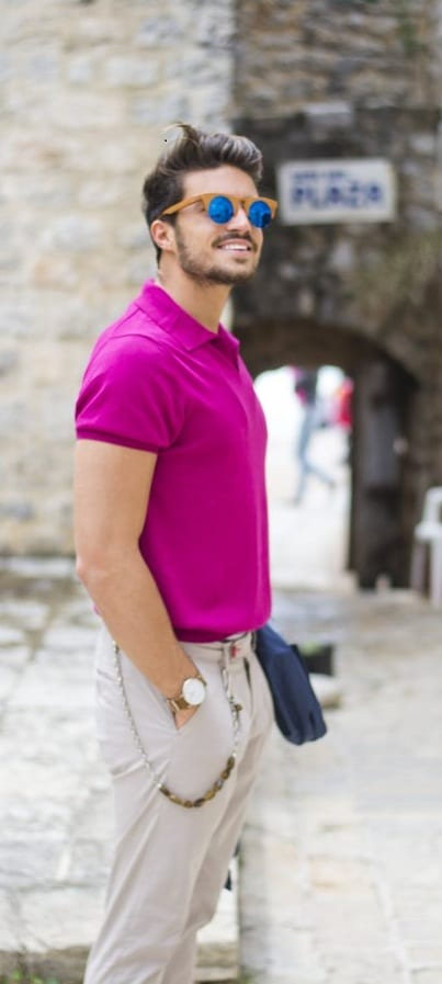 Pink Outfit Men