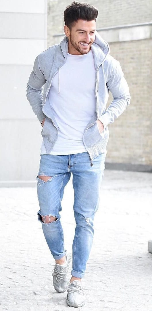 Ripped Jeans - hoodie