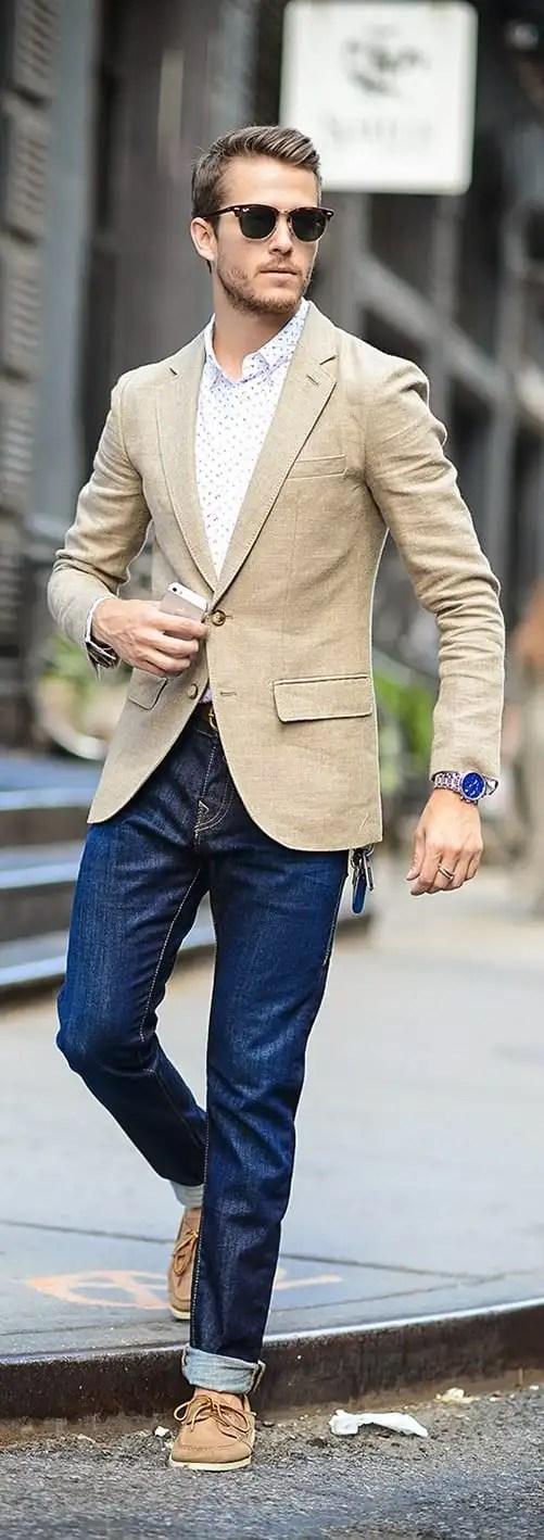 beige blazer for men