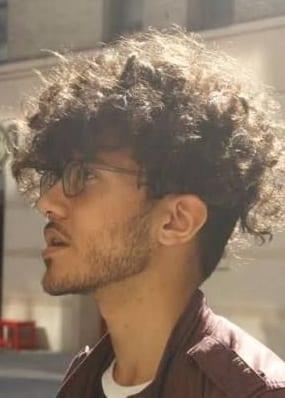 long curls and undercut