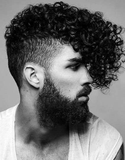 long curly undercut