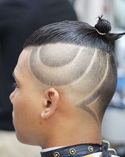 top knot undercut design hairstyle