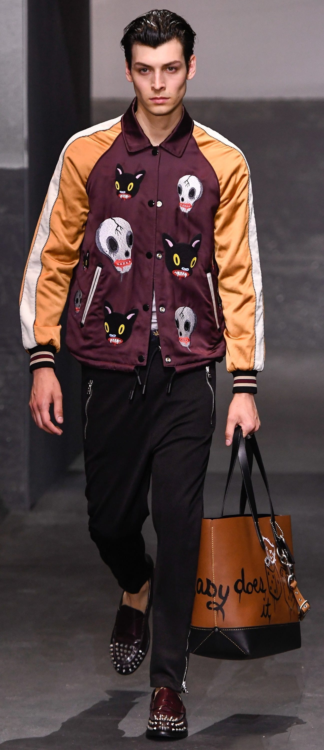 Bomber Jacket Patch Outfit For Men