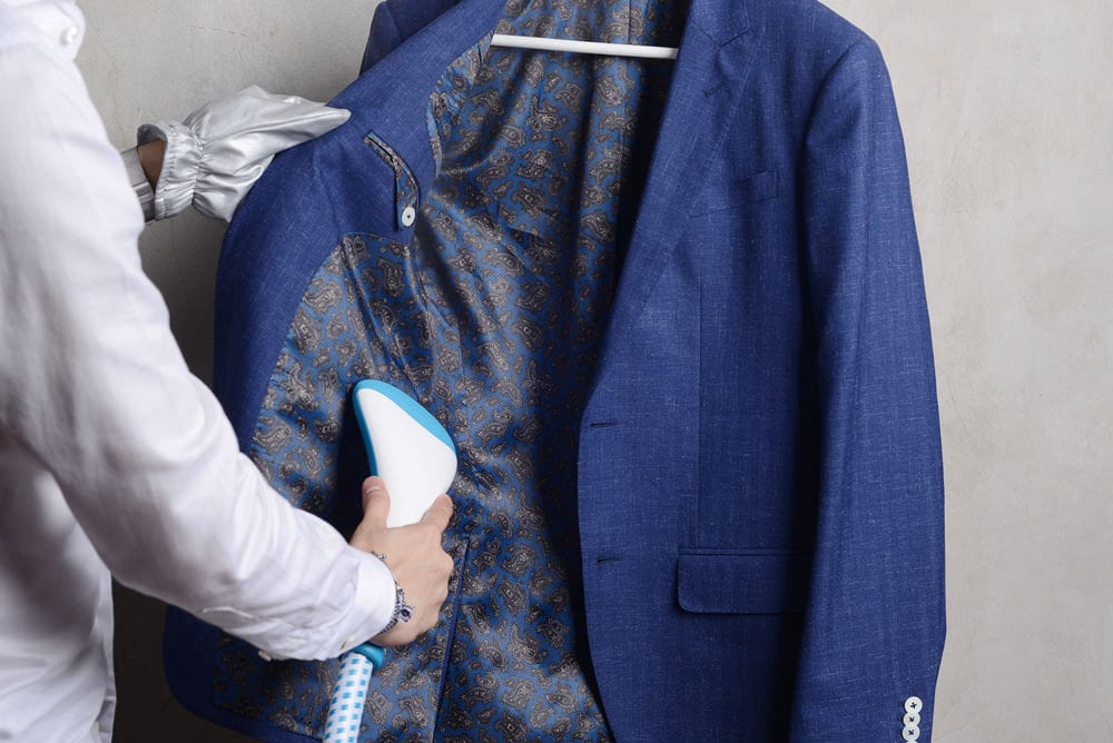 Suit Cleaning Hack Using Steamer