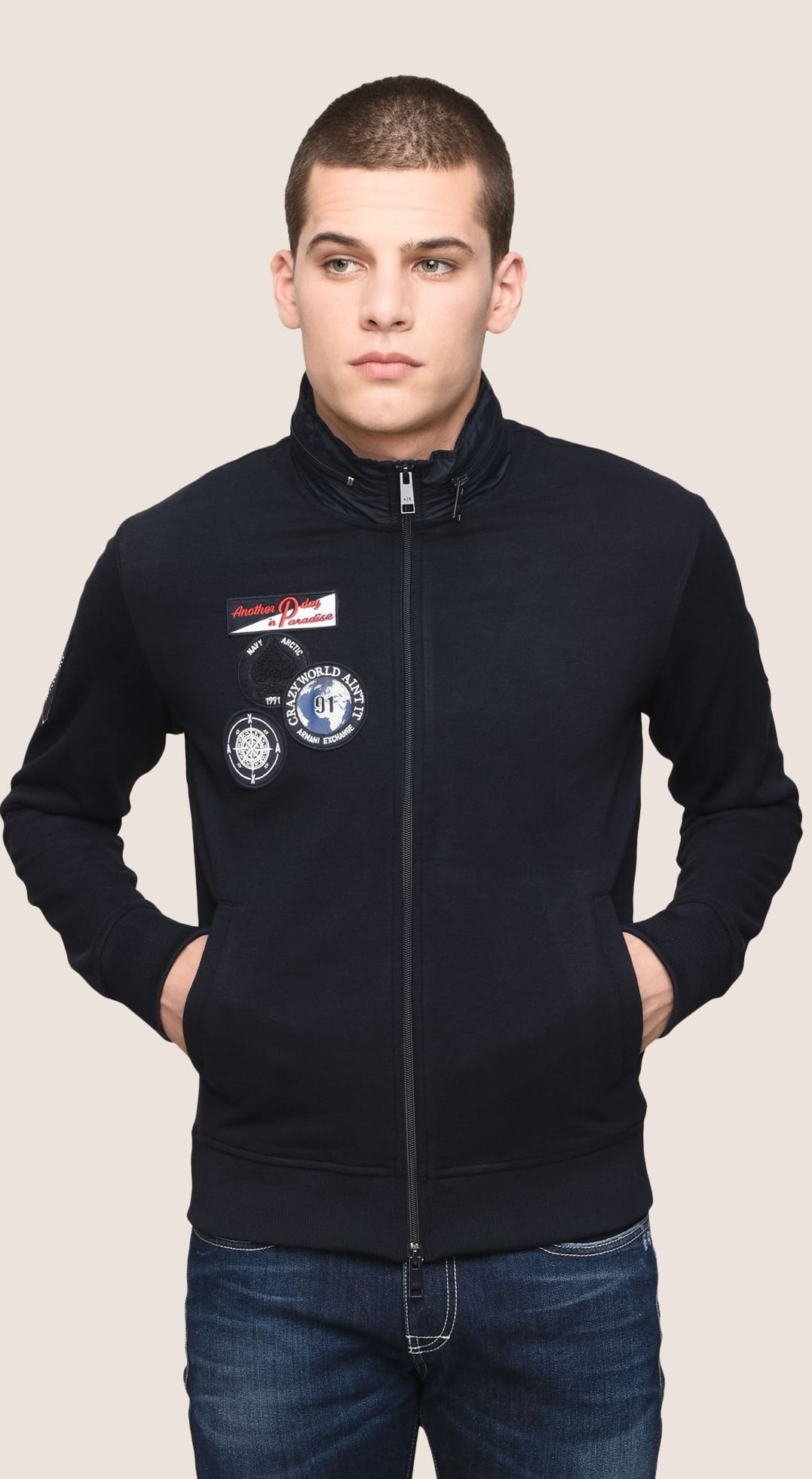 Track Jacket Patch Outfit For Men