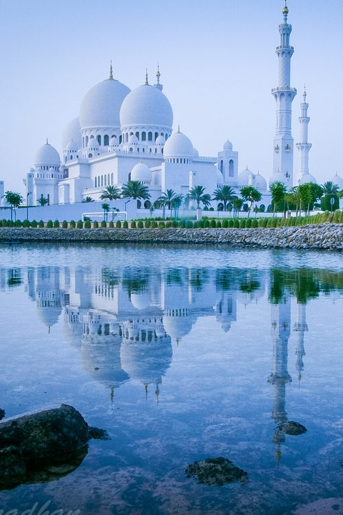 how much time does it take to reach Sheikh Zayed Grand Mosque from dubai