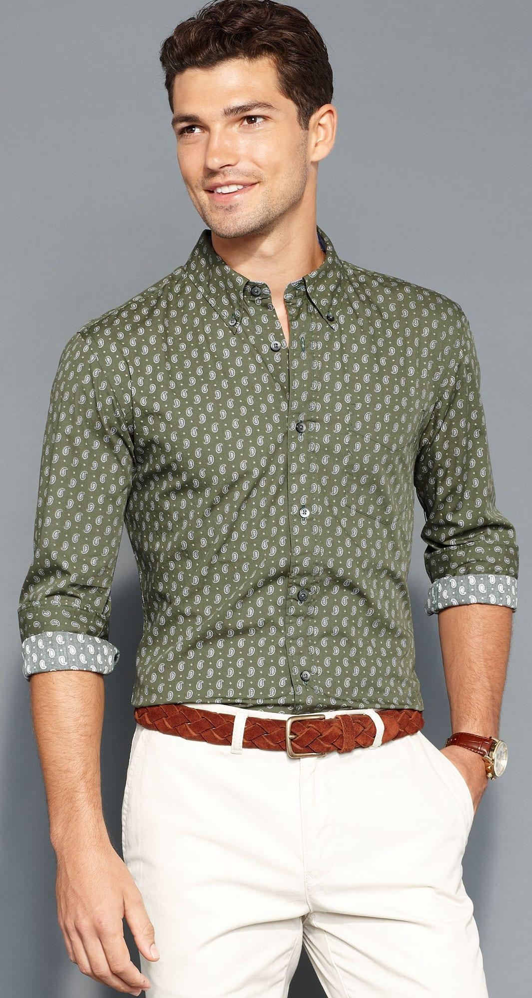 Casual Micro Print Outfit Ideas For Men