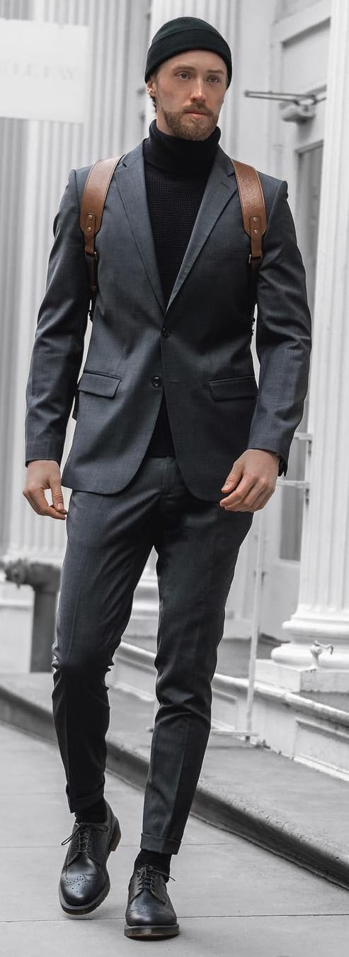 Grey Tailored Suit For Men
