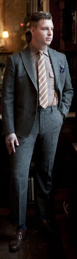 Checked Shirt And Suit Combinations For Men