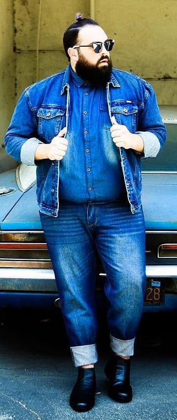 Cool Fat Men Outfit Ideas