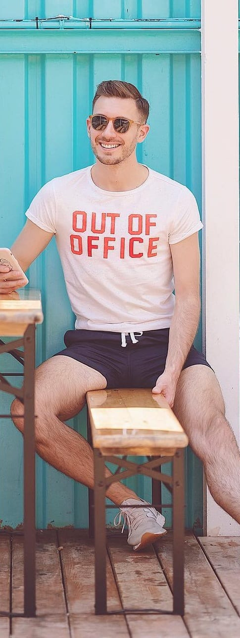 Simple Shorts Outfit Ideas For Men
