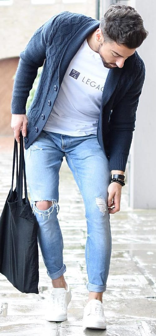 Stunning Cardigan Outfit Ideas For Men