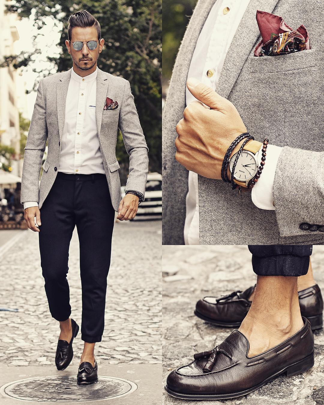 Suit, Accessories And Shoes Combinations For Men