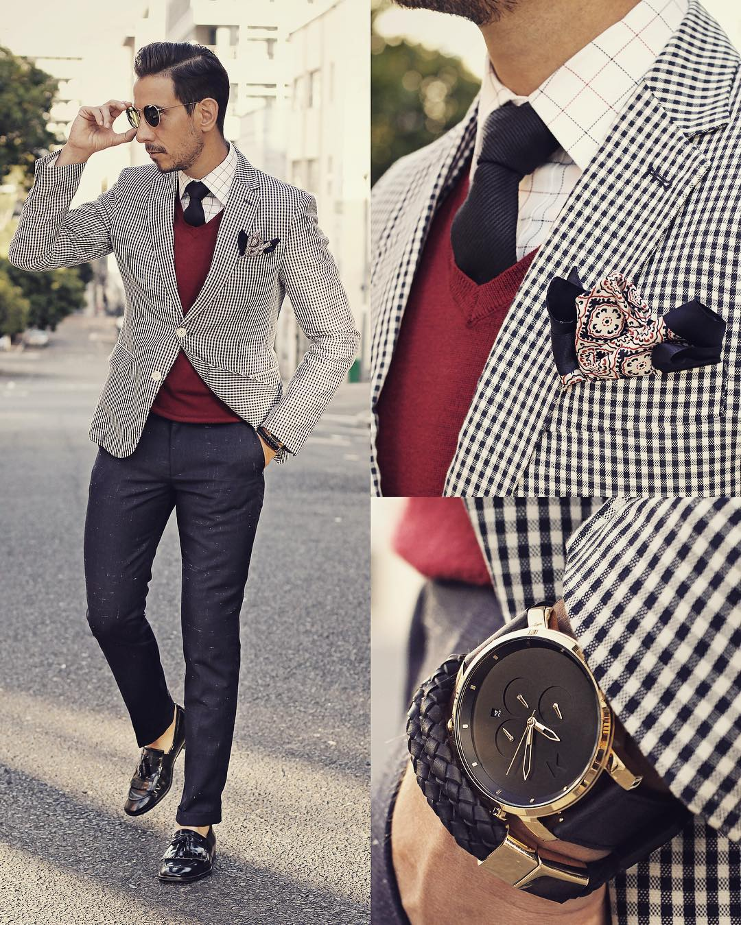 Suit Watch And Accessories Combinations For Men