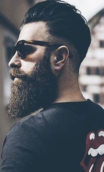fade with long beard