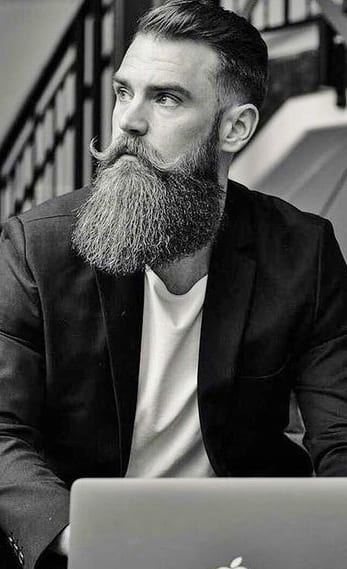 long beard with fade