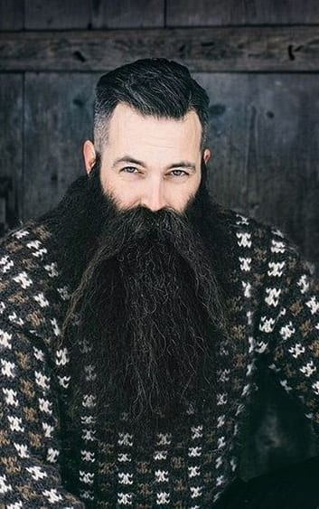 undercut and long beard
