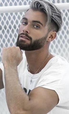 undercut with short beard