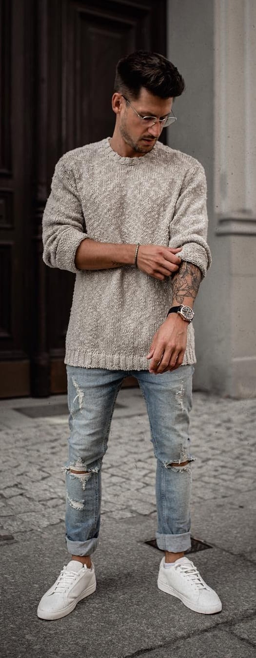 Sweater Outfit Ideas For Men