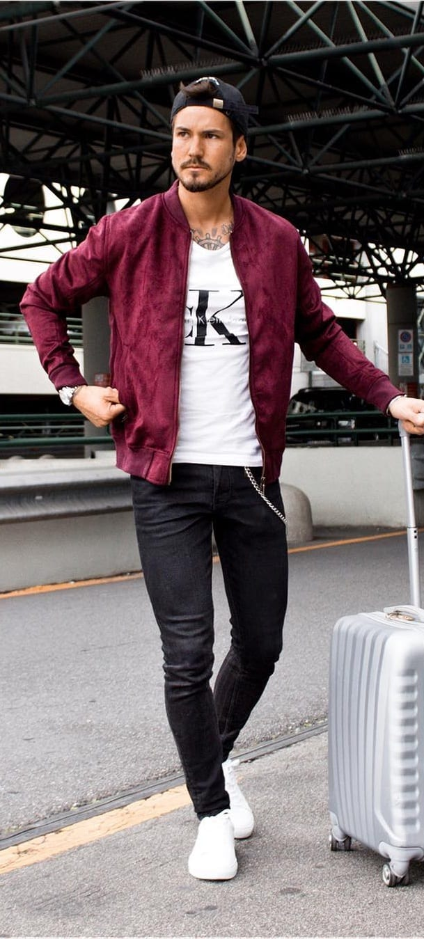 Fashionable Bomber Jacket Outfit Ideas For Men