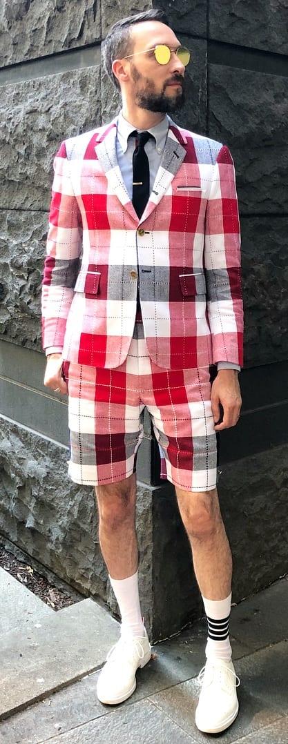 Fashionable Short Suit Outfit Ideas For Men