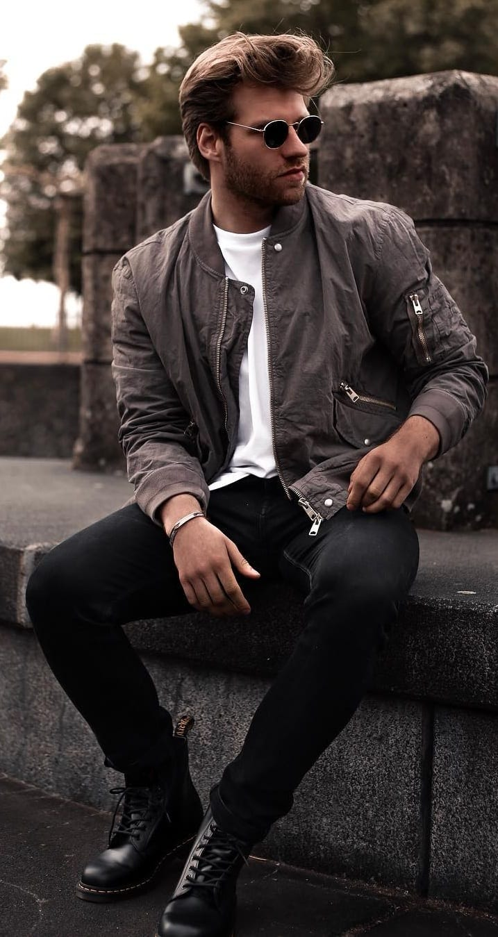 Simple Bomber Jacket Outfit Ideas For Men