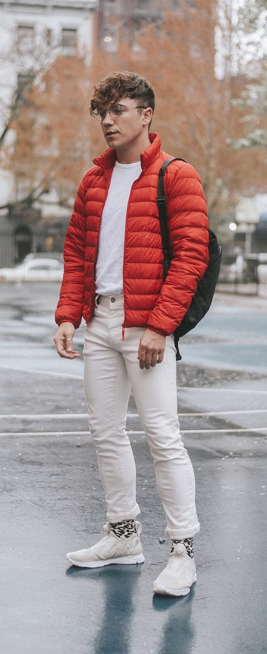Simple Puffer Jacket Outfit Ideas For Men